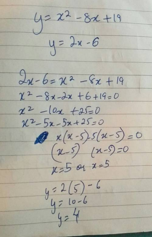 Solve the following quadratic-linear system of equations. a. (–5, –2) and (–4, 1) b. (4, 2) and (3,